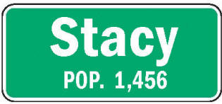 Stacy Minnesota population sign