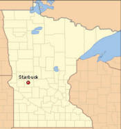 Location of Starbuck Minnesota