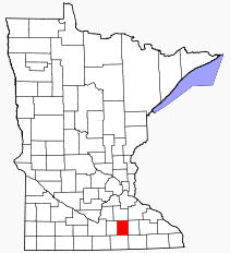 Location of Steele County Minnesota