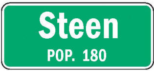 Steen Minnesota population sign