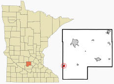 Location of Stewart, Minnesota