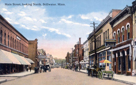 Main Street looking north, Stillwater Minnesota, 1900's