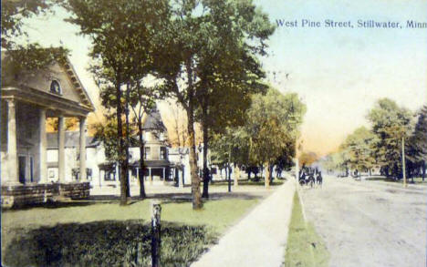 West Pine Street, Stillwater Minnesota, 1908