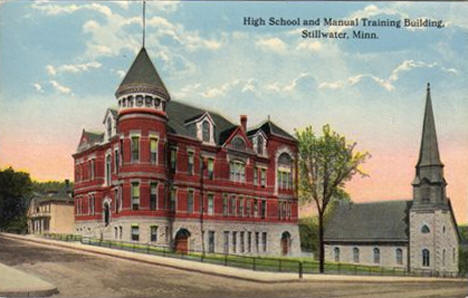 High School and Manual Training Building, Stillwater Minnesota, 1910