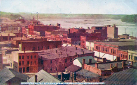 Birds eye view of Stillwater Minnesota, 1910