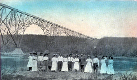 New Soo Bridge across the St. Croix River near Stillwater Minnesota, 1909