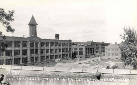View at Minnesota State Prison, Stillwater Minnesota, 1930's