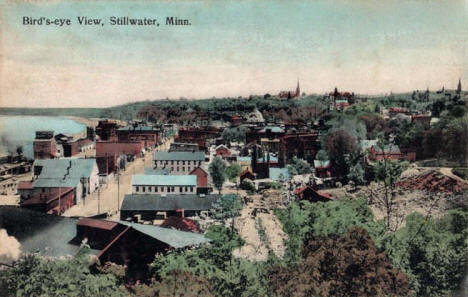 Birds eye view, Stillwater Minnesota, 1909