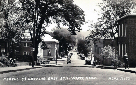 Myrtle Street looking east, Stillwater Minnesota, 1930's