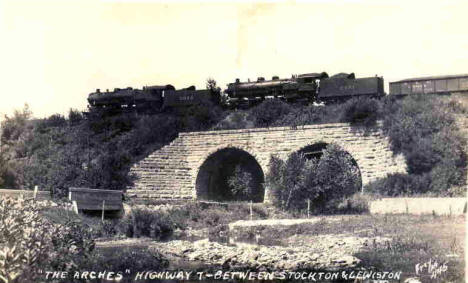"""The Arches"" Highway between Stockton and Lewiston Minnesota, 1920's"