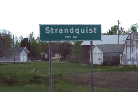 Strandquist Minnesota population sign, 2008