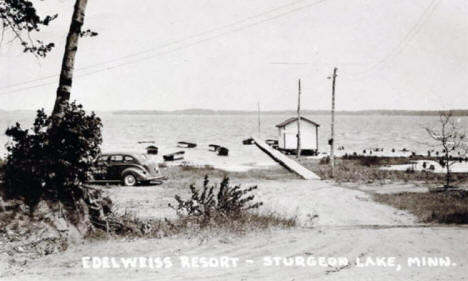 Edelweiss Resort, Sturgeon Lake Minnesota, 1948