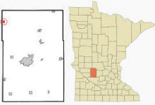 Location of Sunburg, Minnesota