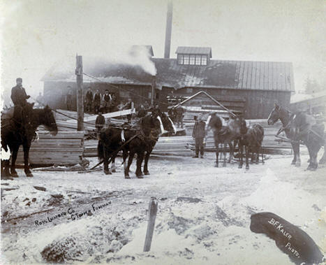 Ross Lumber Company, near Swanville Minnesota, early 1900's