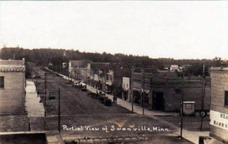 Partial view of Swanville Minnesota, 1908
