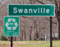 Swanville Minnesota Highway Sign