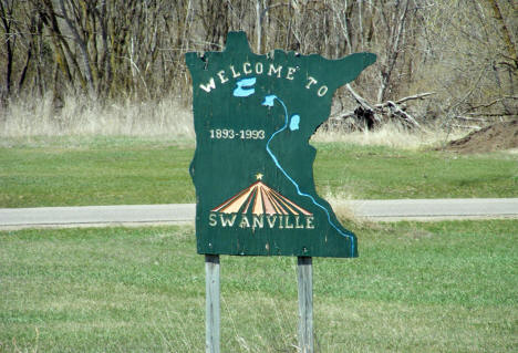 Welcome to Swanville Minnesota Sign, 2009