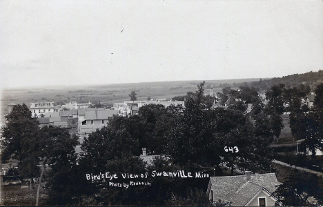 Birds eye view, Swanville Minnesota, 1909