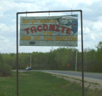 Welcome Sign, Taconite Minnesota