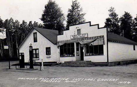 Talmoon Post Office and Ingstad's Grocery, Talmoon Minnesota, 1958