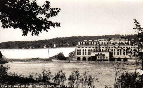 Dam and Power House, Taylors Falls Minnesota, 1920's