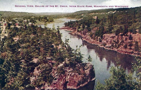 Dalles of the St. Croix, Interstate State Park, Taylors Falls Minnesota, 1910's