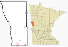 Location of Tenney, Minnesota