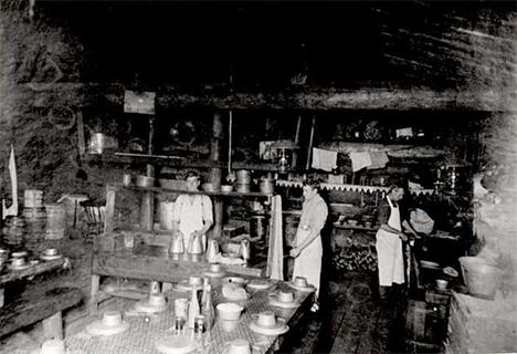 Cooks in the logging camp near Tenstrike Minnesota, 1905