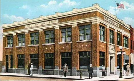 First National Bank, Third Street and LaBree Avenue, Thief River Falls, 1930