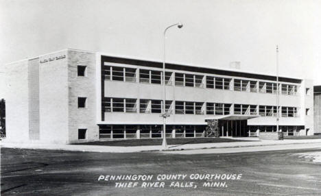 Pennington County Courthouse, Thief River Falls Minnesota, 1950's