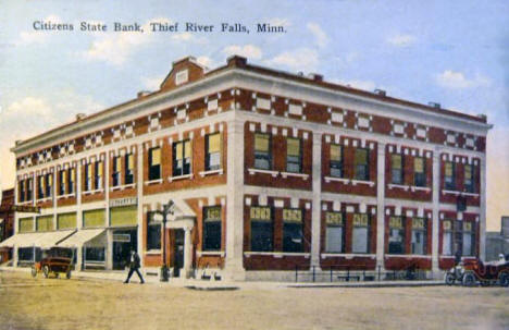 Citizens State Bank, Thief River Falls Minnesota, 1929
