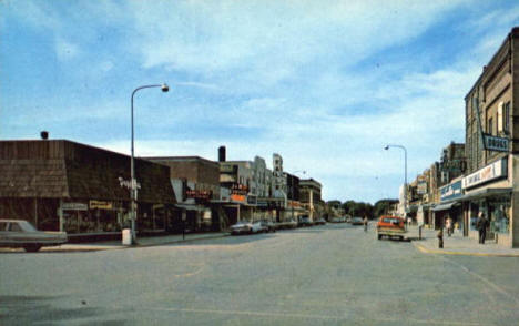 Street view, Thief River Falls Minnesota, early 1970's