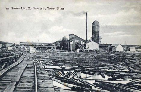 Tower Lumber Company Saw Mill, Tower Minnesota, 1911