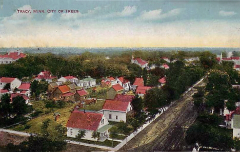 Birds eye view, Tracy Minnesota, 1914