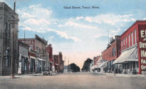 Third Street, Tracy Minnesota, 1910's