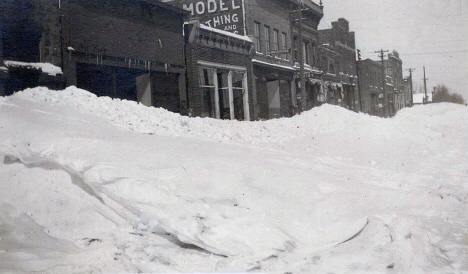 Third Street after blizzard, Tracy Minnesota, 1909
