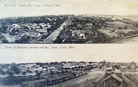 Birds eye view, Tracy Minnesota, 1910