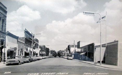 Third Street North, Tracy Minnesota, 1960's
