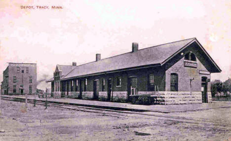 Depot, Tracy Minnesota, 1909