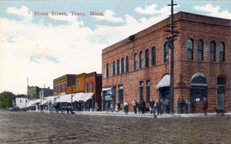 Front Street, Tracy Minnesota, 1900's