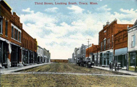 Third Street looking south, Tracy Minnesota, 1916
