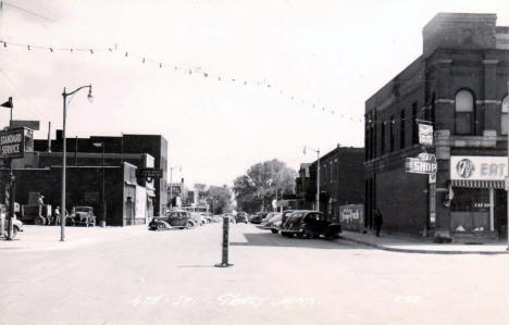 4th Street, Tracy Minnesota, 1950's