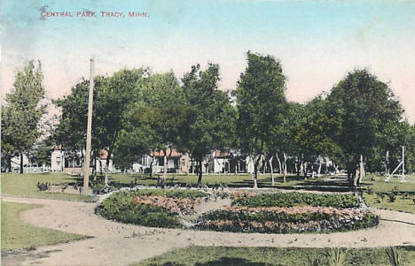 Central Park, Tracy Minnesota, 1910's