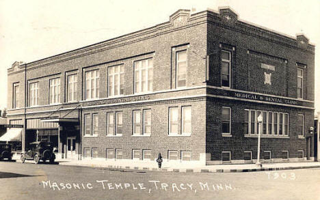 Masonic Temple, Tracy Minnesota, 1930's