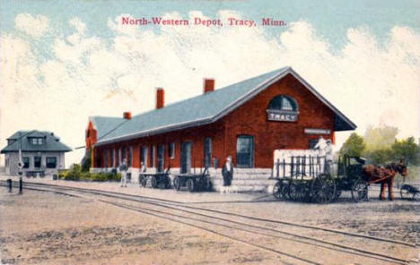 North Western Depot, Tracy Minnesota, 1908