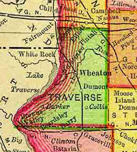 1895 Map of Traverse County Minnesota