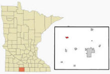 Location of Trimont, Minnesota