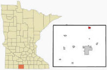 Location of Truman, Minnesota