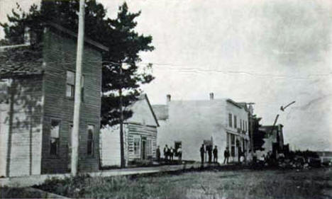 North side, Main Street, Turtle River Minnesota, 1910