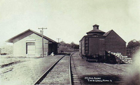 Railroad Depot, Twin Lakes Minnesota, 1910's